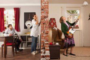 шуметь в квартире