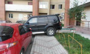 неправильную парковку